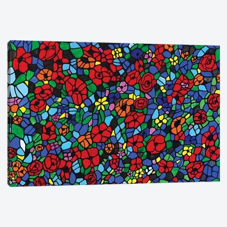 Flower Medley Canvas Print #ROL79} by Rachel Olynuk Canvas Wall Art