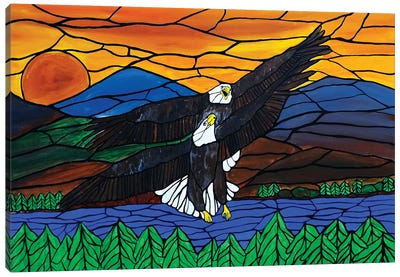 Two Eagles Canvas Art Print