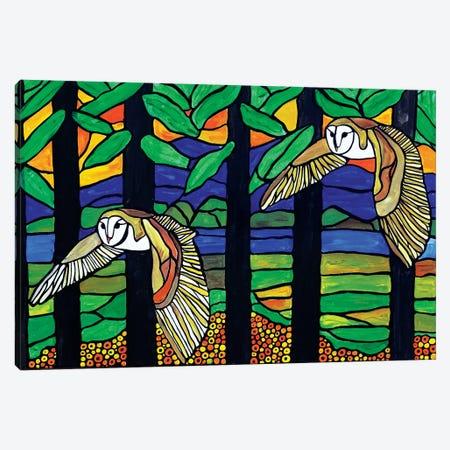 Owls Canvas Print #ROL83} by Rachel Olynuk Canvas Art Print
