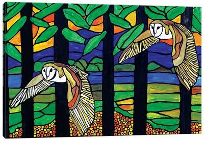 Owls Canvas Art Print