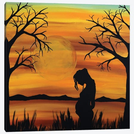 She Holds The Future Canvas Print #ROL93} by Rachel Olynuk Canvas Artwork