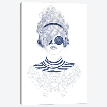 Groove Baby Canvas Print #ROM11} by Jenny Rome Canvas Print