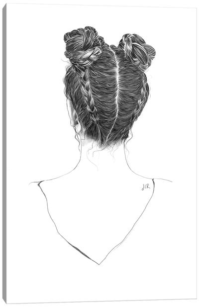 Hair Study Canvas Art Print