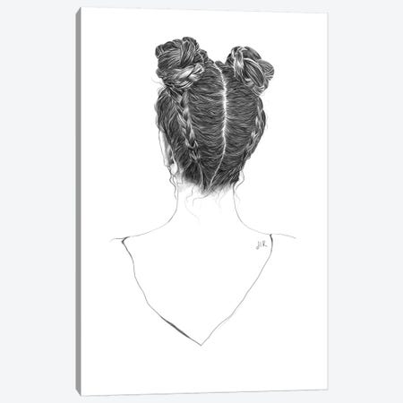 Hair Study Canvas Print #ROM12} by Jenny Rome Art Print