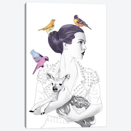 Princess Pike Canvas Print #ROM15} by Jenny Rome Canvas Artwork