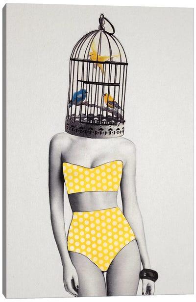 Bird Brained Babe Canvas Art Print