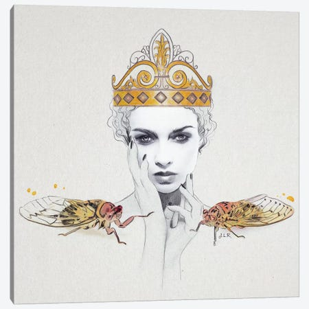 Queen #1 Canvas Print #ROM23} by Jenny Rome Canvas Wall Art