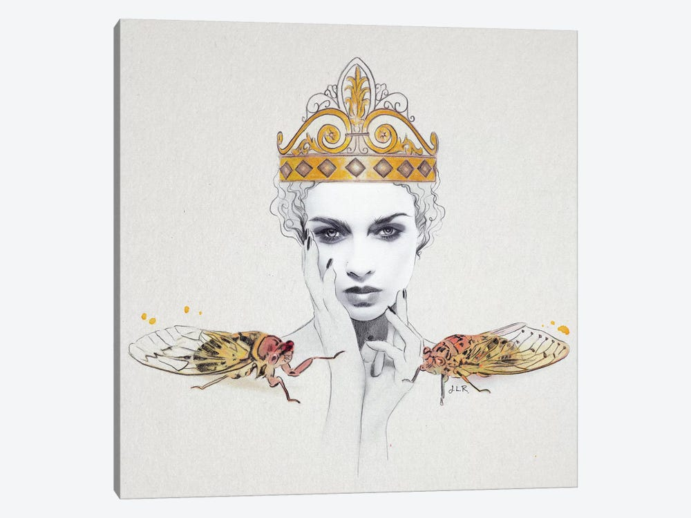 Queen #1 by Jenny Rome 1-piece Canvas Wall Art