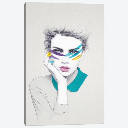 Warpaint Sally Canvas Print #ROM28} by Jenny Rome Canvas Artwork