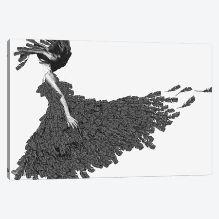 Crow I Canvas Print #ROM29} by Jenny Rome Canvas Artwork
