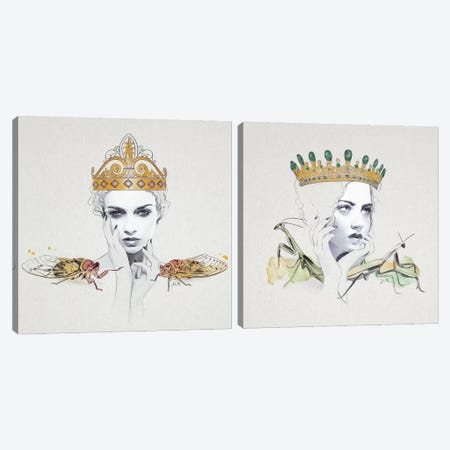 Queen Diptych Canvas Print Set #ROM2HSET001} by Jenny Rome Canvas Print