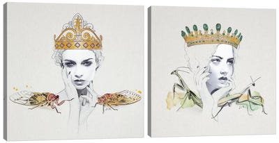 Queen Diptych Canvas Art Print