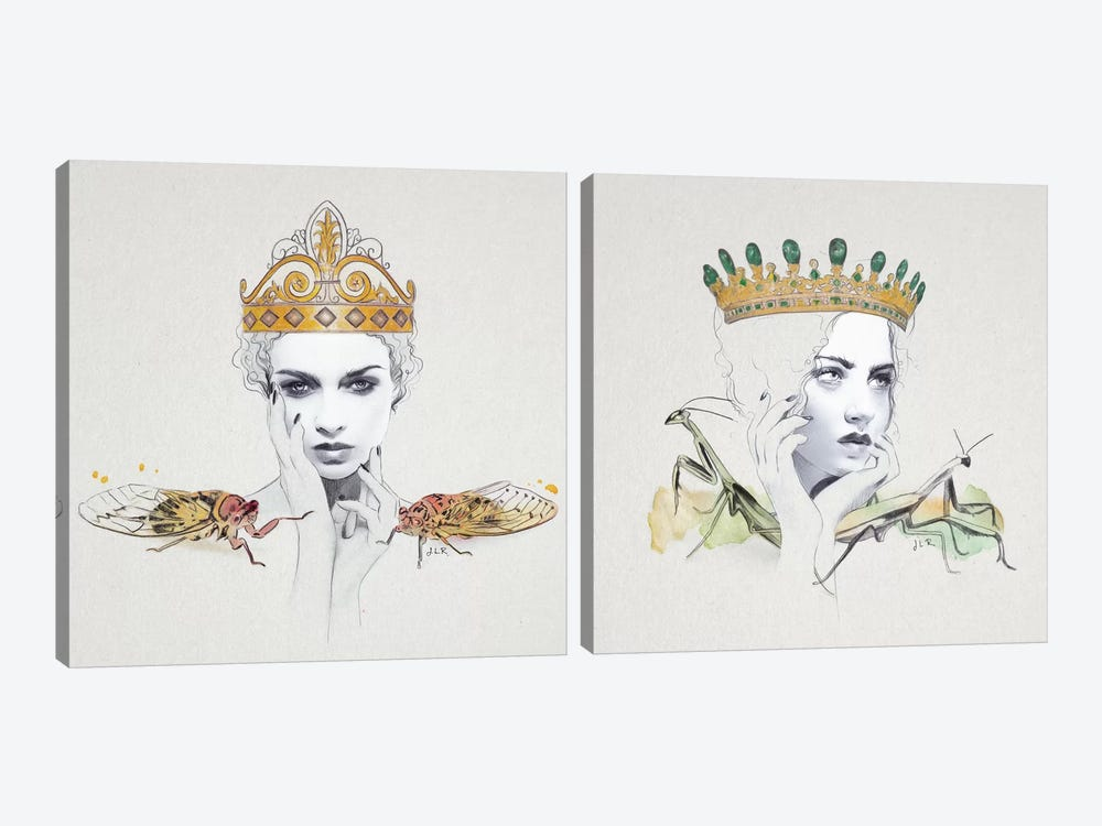 Queen Diptych by Jenny Rome 2-piece Art Print
