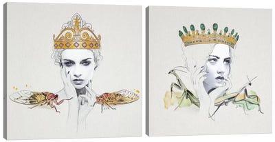 Queen Diptych Canvas Art Print