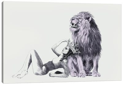 The Queen Leo  Canvas Art Print