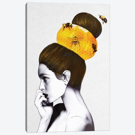 Beehive Canvas Print #ROM4} by Jenny Rome Canvas Artwork