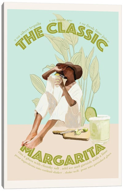 The Classic Margarita Canvas Art Print