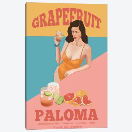 Grapefruit Paloma Canvas Print #ROM53} by Jenny Rome Canvas Art Print