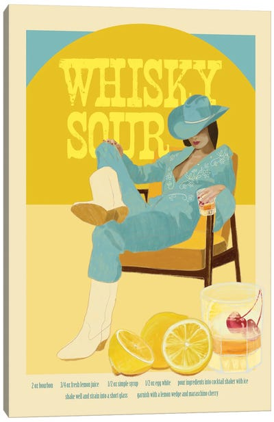 Whisky Sour Canvas Art Print
