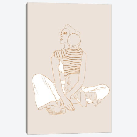 Mother & Son Canvas Print #ROM55} by Jenny Rome Canvas Art
