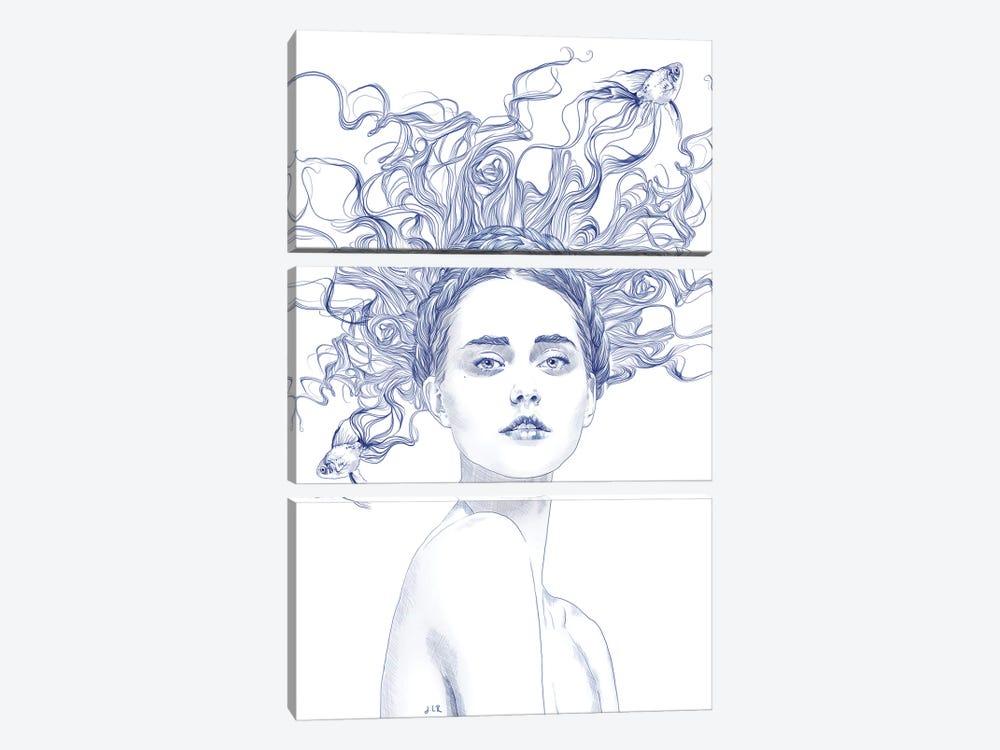 Blue Summer by Jenny Rome 3-piece Canvas Art Print