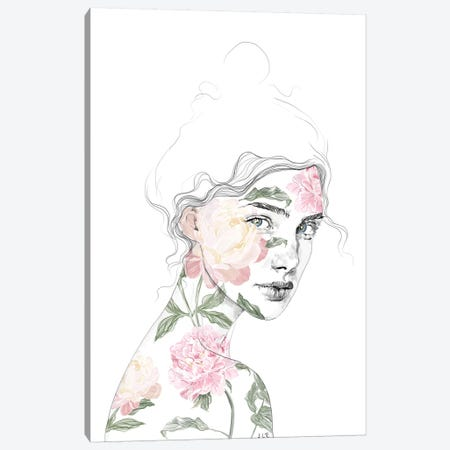 Botanical I Canvas Print #ROM6} by Jenny Rome Canvas Wall Art