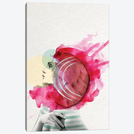 Bright Pink I Canvas Print #ROM8} by Jenny Rome Canvas Art Print