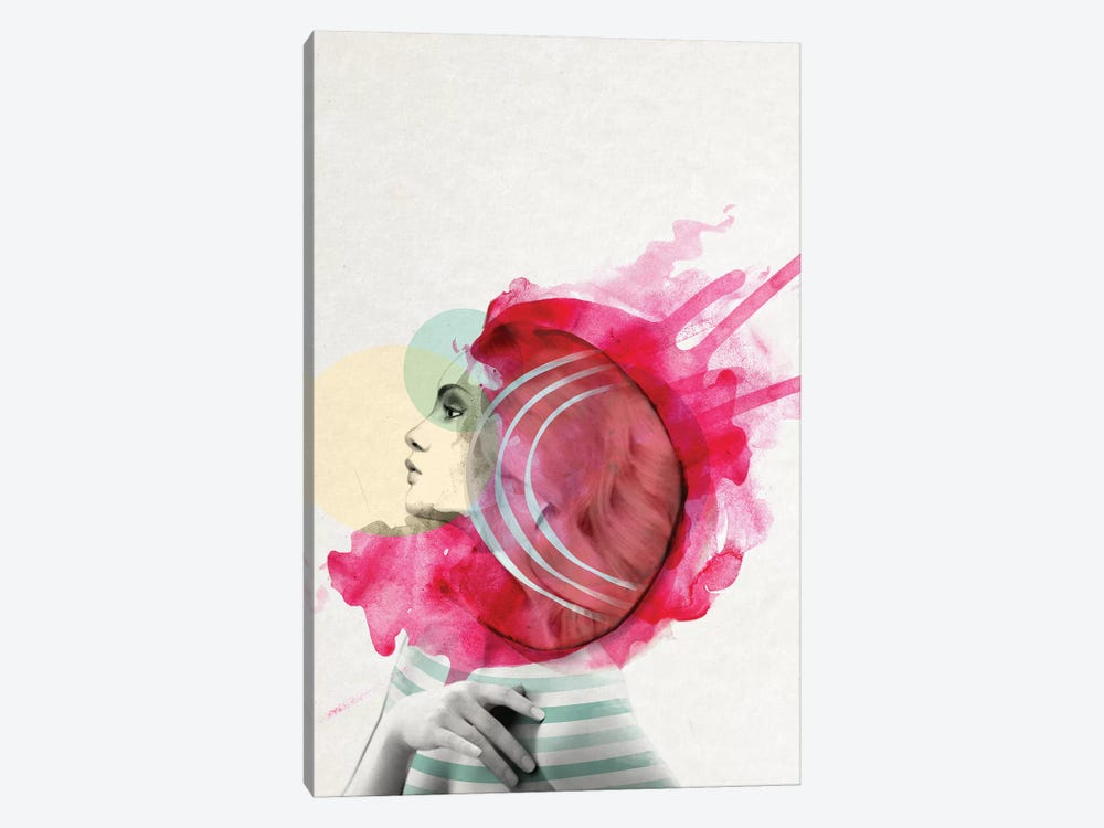 Bright Pink I by Jenny Rome 1-piece Canvas Artwork