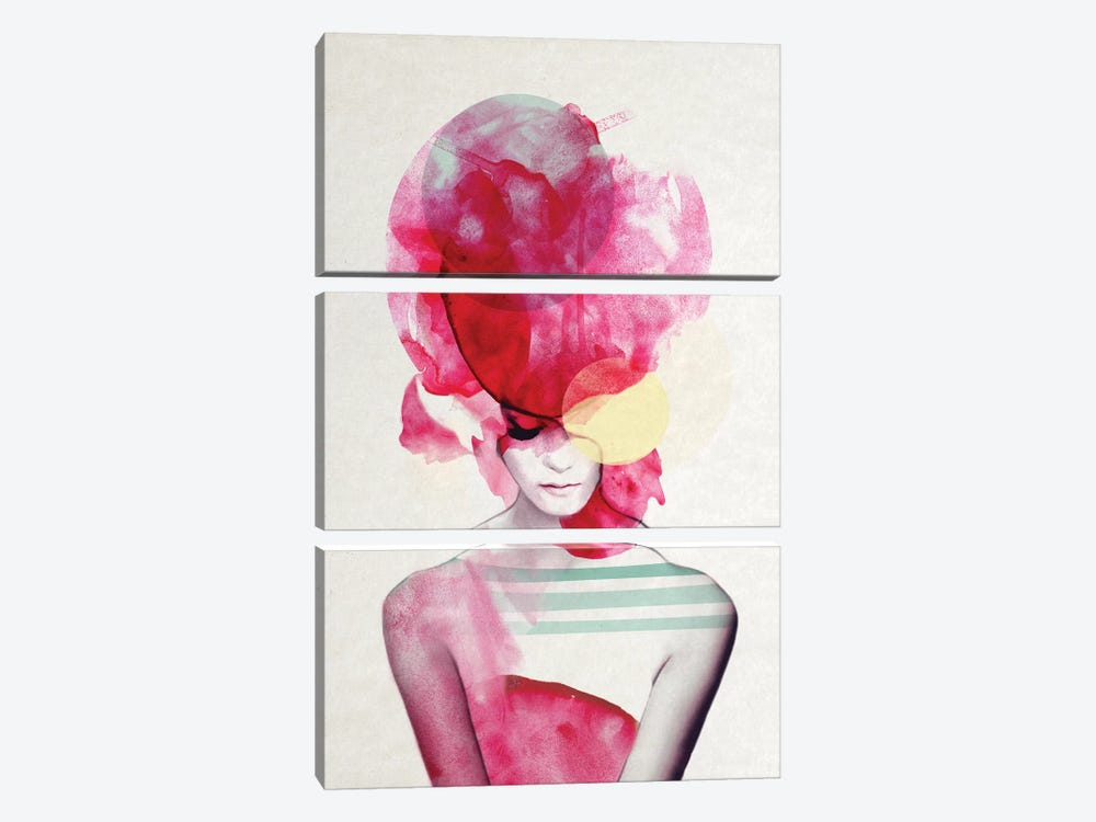 Bright Pink II by Jenny Rome 3-piece Art Print