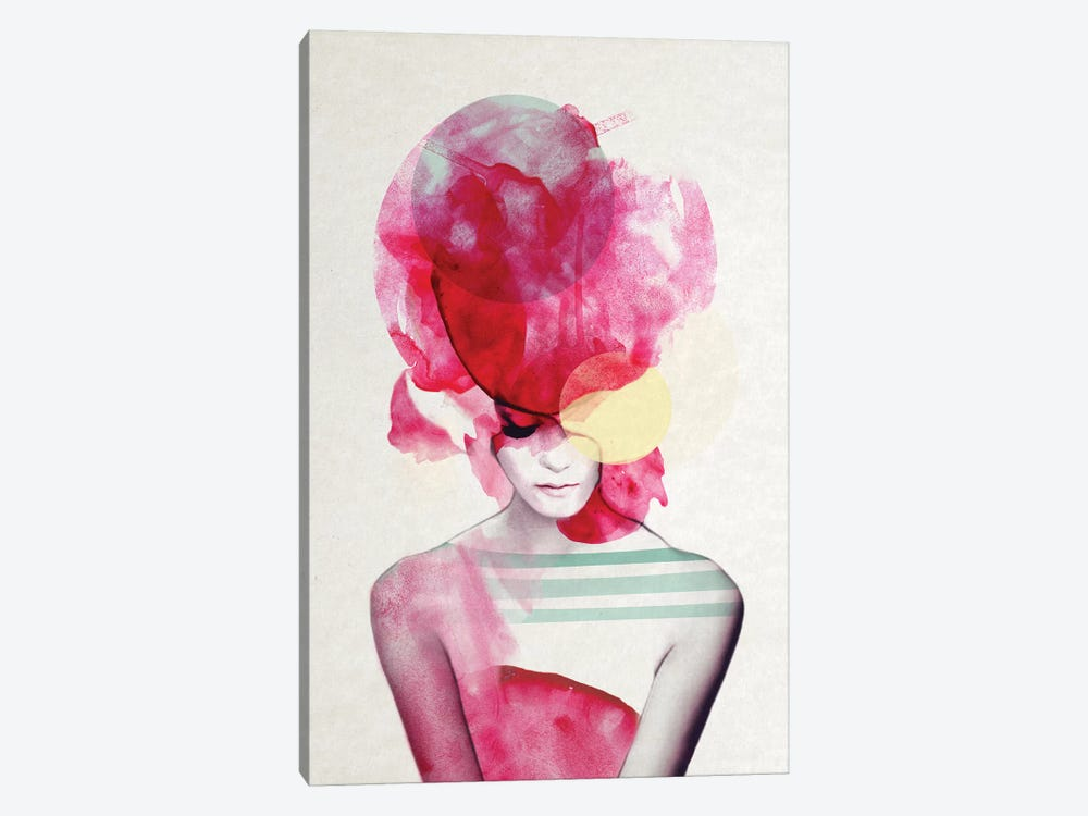 Bright Pink II by Jenny Rome 1-piece Canvas Print