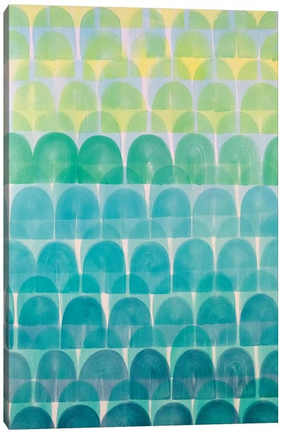 Rolling Aqua Canvas Art Print