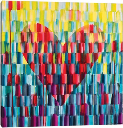 Big Love Heart Canvas Art Print