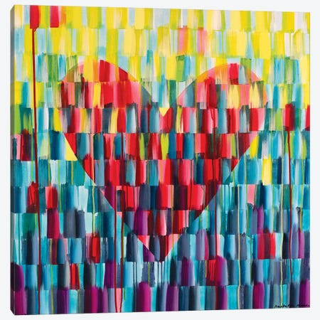 Big Love Heart Canvas Print #ROO57} by Rashelle Roos Canvas Wall Art