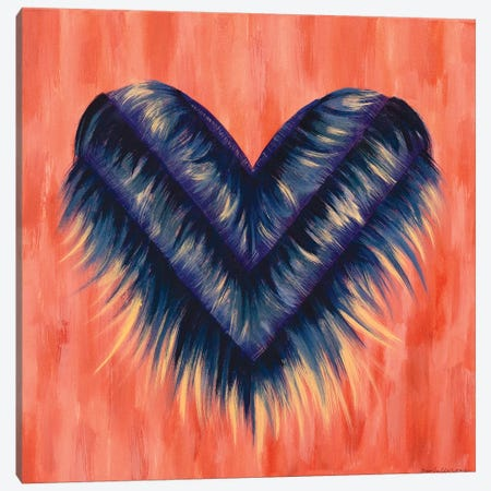 Denim Fringe Heart Canvas Print #ROO59} by Rashelle Roos Canvas Print