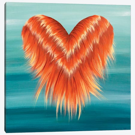 Floating Heart Canvas Print #ROO61} by Rashelle Roos Canvas Artwork