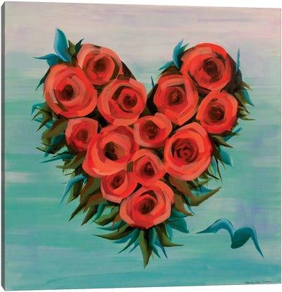 Plus One Heart Canvas Art Print