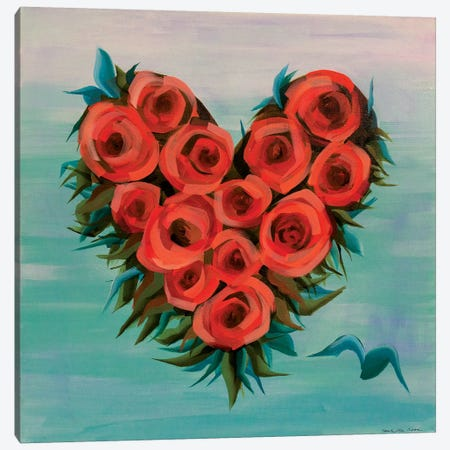 Plus One Heart 3-Piece Canvas #ROO64} by Rashelle Roos Canvas Print