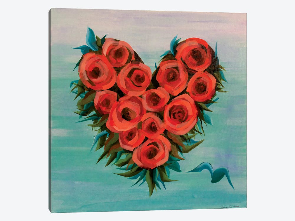 Plus One Heart by Rashelle Roos 1-piece Canvas Artwork