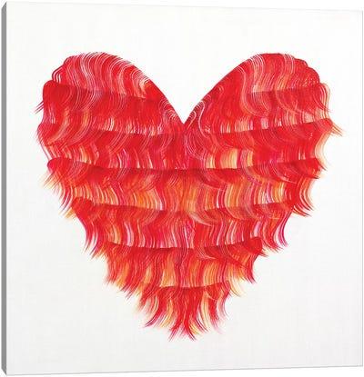 Red Flapper Heart Canvas Art Print