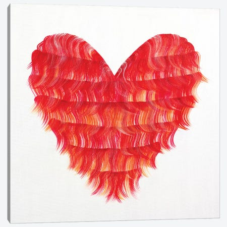 Red Flapper Heart Canvas Print #ROO66} by Rashelle Roos Art Print