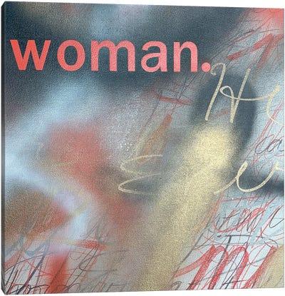 Woman (Coral) Canvas Art Print
