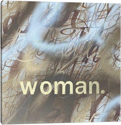 Woman (Mocha) Canvas Art Print