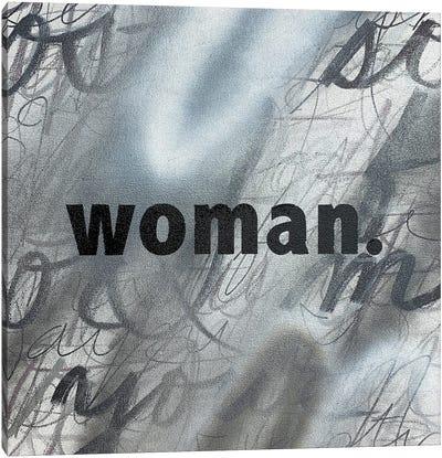 Woman (Black And White) Canvas Art Print