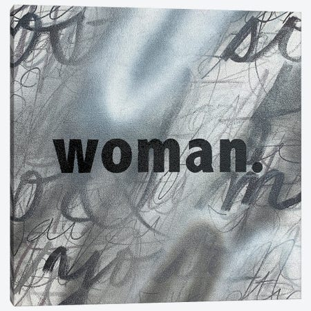 Woman (Black And White) 3-Piece Canvas #ROO78} by Rashelle Roos Art Print