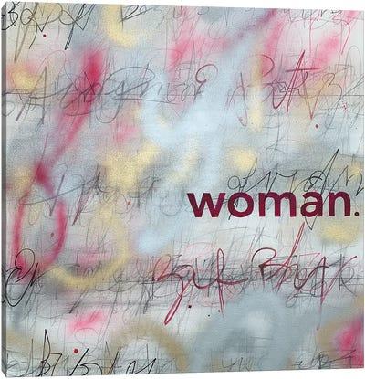 Woman (Pink) Canvas Art Print