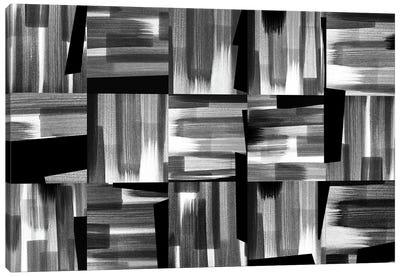 Black And White Rhythms Canvas Art Print