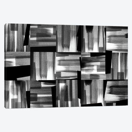 Black And White Rhythms Canvas Print #ROO80} by Rashelle Roos Canvas Art