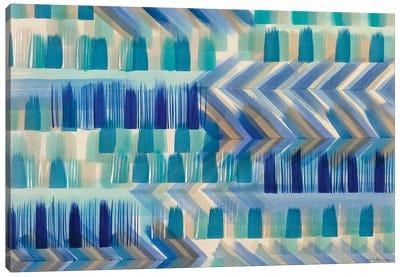 Cobalt Chevron Canvas Art Print