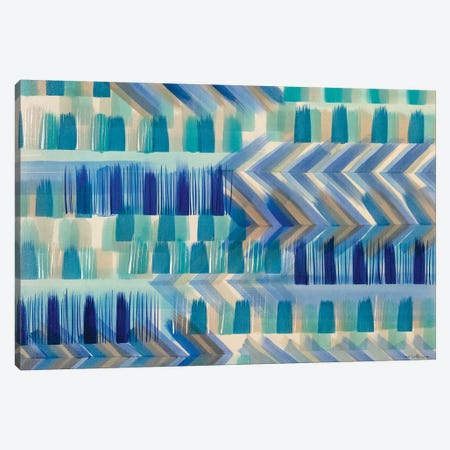 Cobalt Chevron Canvas Print #ROO8} by Rashelle Roos Canvas Print