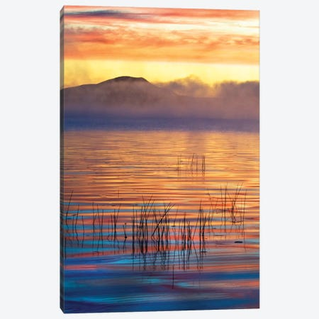 Foggy Sunrise, Racquette Lake, Town Of Long Lake, Hamilton County, New York, USA Canvas Print #ROT6} by Nancy Rotenberg Canvas Wall Art